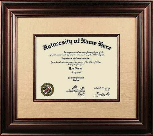 The First-Class College Diploma Frames  - Where did our graduate diploma frames find their inspiration? From designs of the 18th and 19th centuries. They incorporate rich woods and fabrics with ornate details and designs. Perfect for Doctors and Lawyers offices!